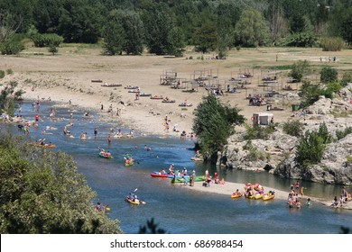 Summer vacation on the river
