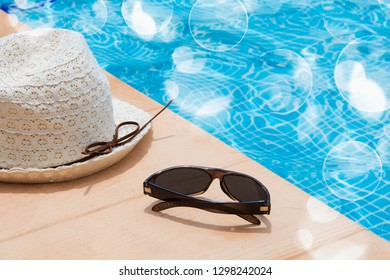 summer vacation in the pool