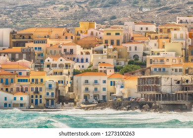 Summer view of Andros island in Greece. A beautiful touristic destination.