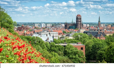 Summer view for Gdansk city
