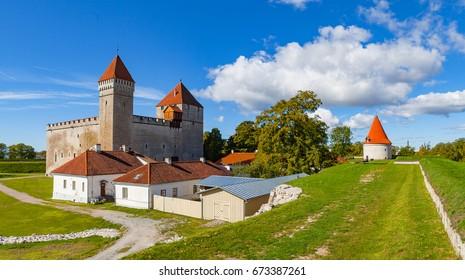 A summer view of Kuressaare castle, Saaremaa island, Estonia