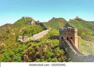 Summer view on Great Wall China