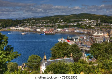 Summer view overlooking Oban from Pulpit Hill, Argyll