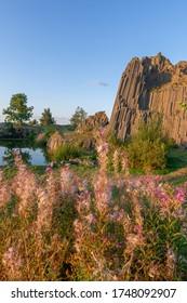 Summer view of Panska Skala, basalt rock in Czech Republic, Bohemian Switzerland - Shutterstock ID 1748092907