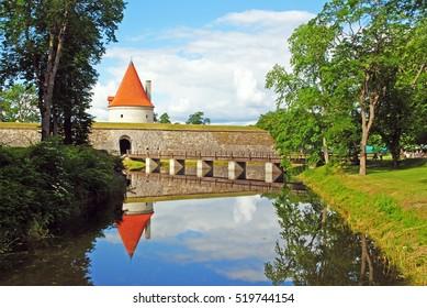 A summer view of Saaremaa island, Kuressaare castle in Estonia