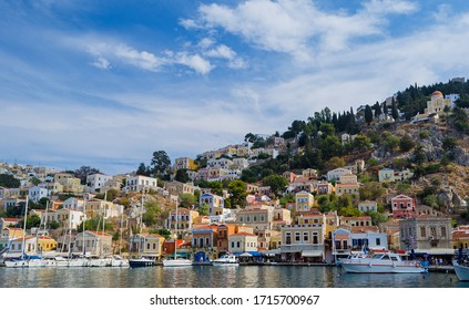 Summer view of Symi Town