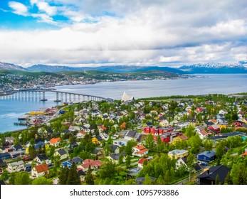 Summer view of Tromso, Norway