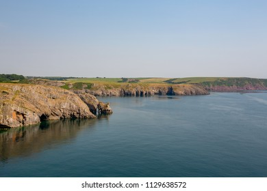Summer  views along the Pembrokeshire Coast Path in South Wales, UK