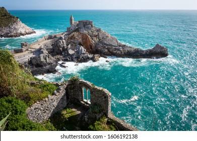 Summer visit of Portovenere, Italian town in Liguria - Shutterstock ID 1606192138