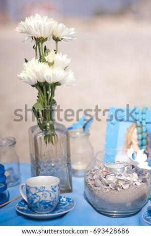 Summer Wedding Decor Blue Maritime Wedding Stock Photo Edit Now