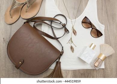 Summer woman stuff, bohemian style