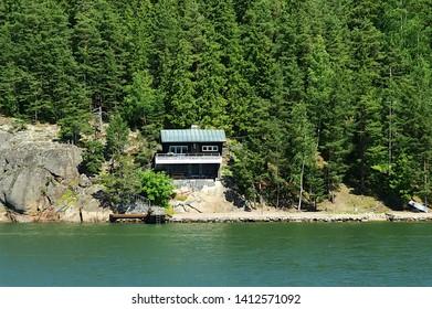 A summerhouse near by the seashore