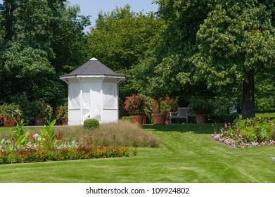 summerhouse in the summer Garden