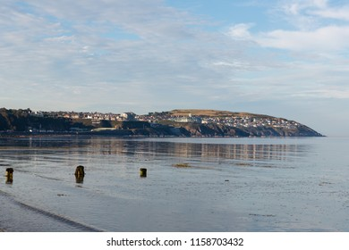 Summers evening in Douglas Bay, Douglas, Isle of Man, British Isles