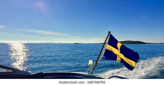 Summertime Boating in Sweden