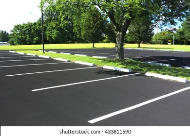 summertime parking lot