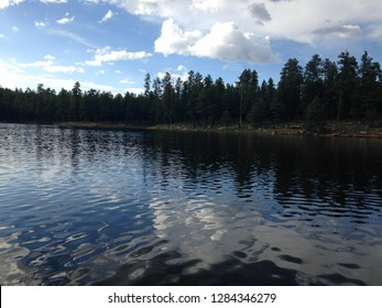 Summertime at Woods Canyon Lake on the Mogollon Rim in the Apache Sitgreaves National Forest, northern Arizona