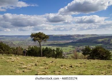 Summit of Back Tor. Walk from Castleton to Hope, Peak District National Park, England, UK