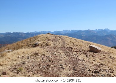 Summit of Big Mountain, a prominent peak in the northern section of the Wasatch Range near Morgan, Utah