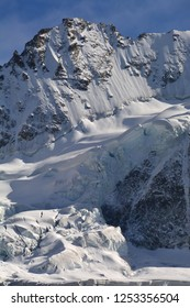 The summit of the Blanc Nord de Moming in the southern Swiss Alps above Zinal