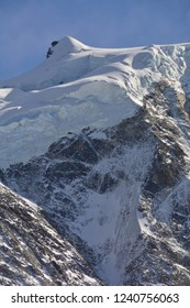 The summit of the Blanc Sud de Moming in the southern Swiss Alps above Zinal