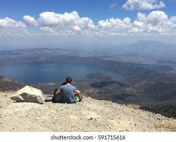 Summit done blue sky landscape