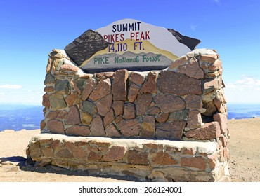"Summit Marker of Pikes Peak ""America's Mountain"", Colorado 14er"