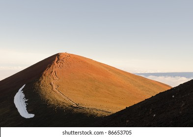 Summit of Mauna Kea with footpath