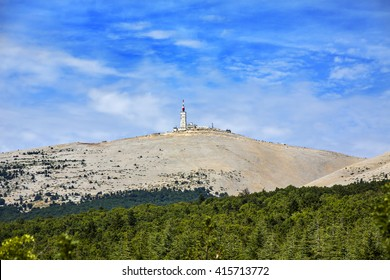 Summit of Mont Ventoux on a Hot Day, Provence, France