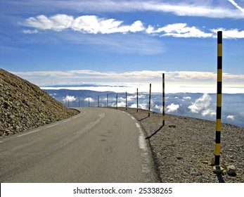 The summit of Mount Ventoux, Vaucluse, France