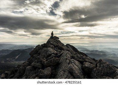 Summit of Mt. Meeker, neighbor mountain to Longs Peak.  Rocky Mountain National Park, Colorado