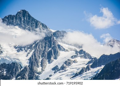Summit of Mt. Shuksan with the clouds at North Cascades National Park, Washington, USA