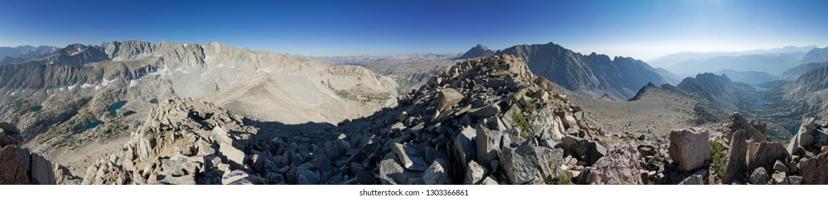 summit panorama from near the top of Mount George Davis