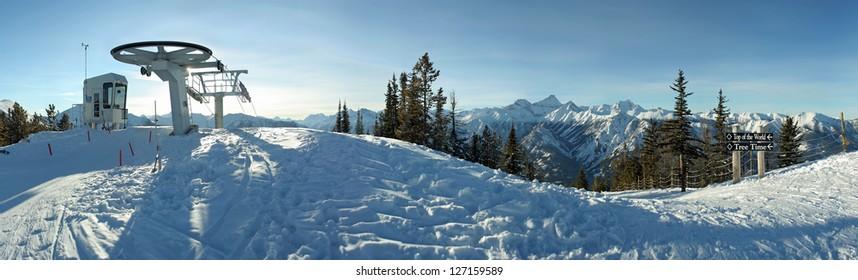 Summit of Panorama Ski Hill, Invermere, British Columbia, Canada