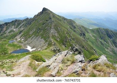 Summit of Pic Saint-Barthélémy in French Pyrenees mountains from Ariège department