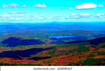 Summit views from Mount Monadnock in New Hampshire in late fall