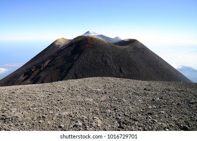 Summit of Volcano Mount Etna, Sicily, Italy