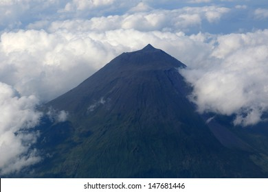 Summit of the volcano Pico on the Azores Portugal