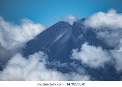 Summit of Volcano in the ring of fire (Mount Ulawun Volcano)