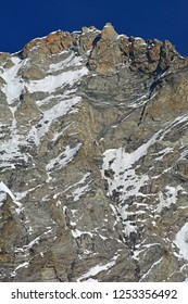 The Summit of the Weisshorn, West Facem. In the southern swiss alps between Zinal and Zermatt