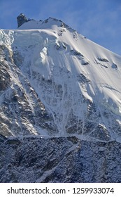 The summit of the Zinalrothorn in the southern Swiss Alps above Zinal