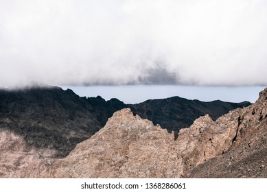 Summiting Toubkal, the Tallest Peak in the High Atlas Mountains in Morocco