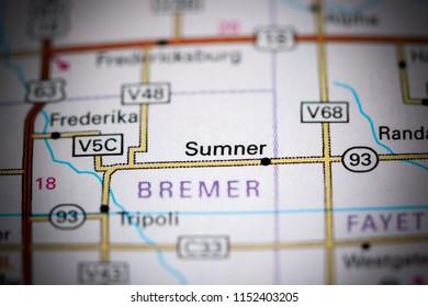 Sumner Iowa Map.Swea City Iowa Usa On Map Stock Photo Edit Now 1152410891