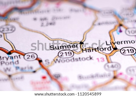 Sumner Maine Usa On Map Stock Photo Edit Now 1120545899 Shutterstock