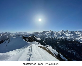 Sun in the alps at stoos