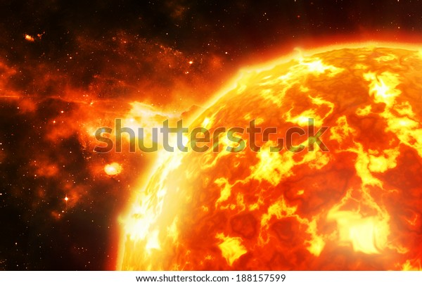 The sun - Background elements of this image furnished by NASA
