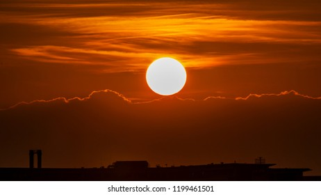 sun before sunset