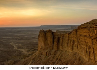 The Sun Begins to Set over the Expanse of Desert, Edge of the World, Riyadh, Saudi Arabia