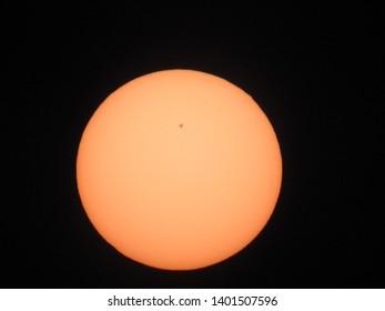 Sun with big sunspot, sun spot