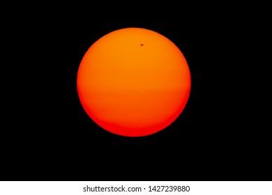 The sun and black spots on the sun